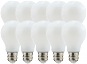 10x LED Fadenlampe Bulb E27 matt 8W 1.055lm 4.000K