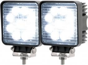 2x LED Arbeitsscheinwerfer eckig 27 Watt 1.620 Lumen 2x AdLuminis LED Arbeitsscheinwerfer T1027S 10-30V 60° 1.620 Lumen
