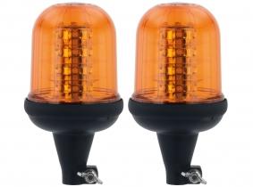 2x LED Rundumleuchte mit flexiblem Fuß