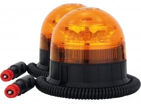 2x LED Rundumleuchte klein mit Magnetfuß