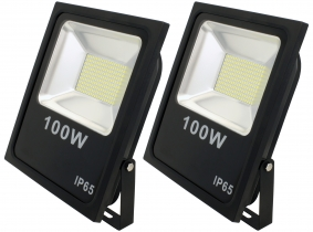 2x SMD LED Fluter flach 100 Watt 7.400 Lumen