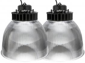 2x LED Hallenstrahler PC Reflektor 60W 7.800 Lumen