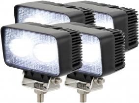 4x LED Arbeitsscheinwerfer 20 Watt 1.800 Lumen
