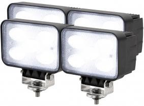 4x LED Arbeitsscheinwerfer 50W 120° 4.000 Lumen