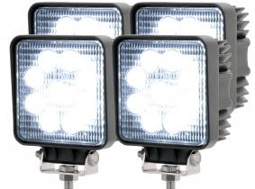 4x LED Arbeitsscheinwerfer eckig 27 Watt 1620 Lumen 4x AdLuminis LED Arbeitsscheinwerfer T1027S 10-30V 60° 1.620 Lumen