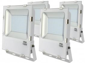 4x SMD LED Fluter 100 Watt 11.000 Lumen