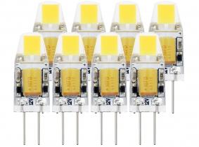 8x G4 LED Stiftsockellampe 12V 1W 110 Lumen