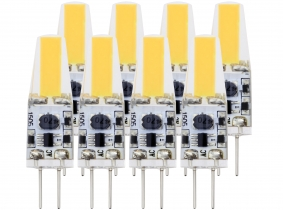 8x G4 LED Stiftsockellampe 12V 1,6W 205 Lumen tagweiß