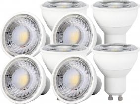 8x LED Reflektorlampe GU10 6W 550 Lumen