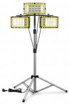 3x LED Baustrahler 50W mit Dreibeinstativ