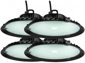 4x LED Hallenstrahler 100 Watt 9.000 Lumen